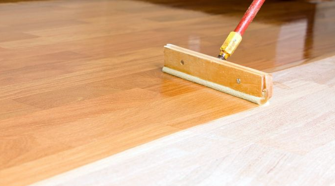 polishing wood floors